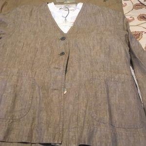 JJill jacket, skirt, vest, free white blouse